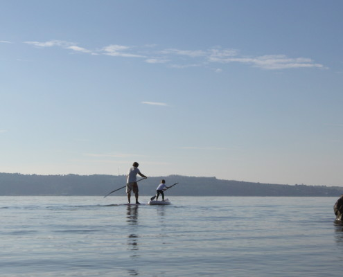SUPing with a SipaBoard is so easy even your kids can master it